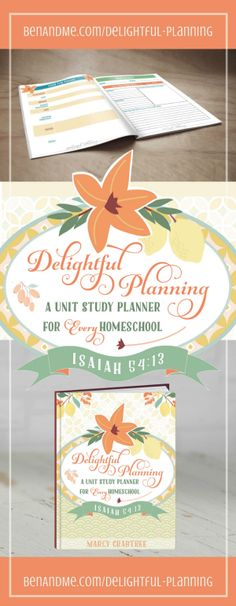 Delightful Planning: A Unit Study Planner for Every Homeschool is designed to assist you as a homeschool mom with creating delight-directed unit studies. Homeschool Curriculum, Homeschooling, Curriculum Planner, Study Planner, Choose Joy, The Unit, How To Plan, Learning, Unit Studies