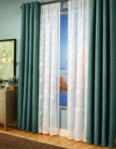 Paris Voile White Monaco Slate Drapes