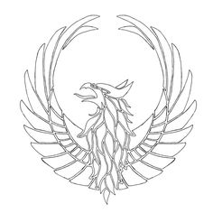 Kamon Gryphon by lordjbar on DeviantArt Griffin Tattoo, Griffin Logo, Easy Drawings, Tattoo Drawings, Griffin Drawing, Fantasy Logo, Circle Tattoos, Stained Glass Birds, Doodle Coloring