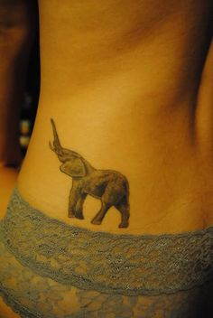 "Elephant...it's always been a thing between me and my mom. we always joke about there being an ""elephant in the room"" so I would get something like this to honor her <3"