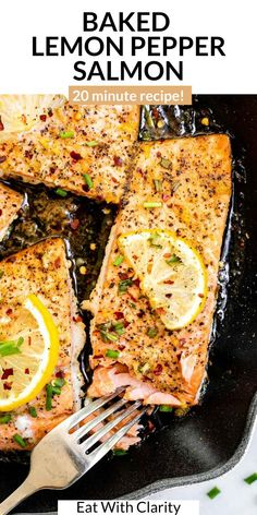 Healthy Salmon Recipes, Quick Healthy Meals, Grilled Chicken Recipes, Fish Recipes, Paleo Recipes, Cooking Recipes, Lemon Pepper Salmon, Lemon Pepper Chicken