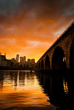 A Stone Arch Sunset over Minneapolis, photographic print Miss Minnesota, Go Vols, Arch Bridge, Twin Cities, Minneapolis, Mother Nature, Photo Credit, Explore, Wall Art