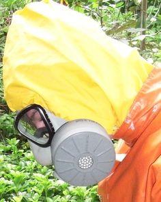 Yellow PU Hood and grey Swiss Gasmask