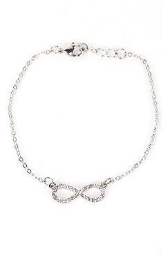 stone infinity ankle bracelet