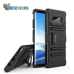 28a32045713 TIEGEM Phone Case for Samsung Note 8 Kickstand Coque Soft Silicone Back  Cover Shell Case For Galaxy Note 8 with Stand Holder