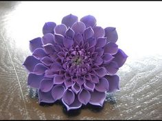 Tutorial Fiori in Pasta Zucchero ,Gumpaste Dahlia Flower - YouTube
