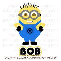 Bob Minion SVG cutting file. #Minions