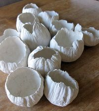 diy project: paper clay barnacles