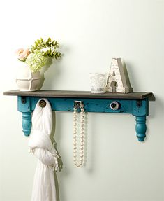 Give your space old-fashioned appeal with a Vintage Wall Shelf with Hooks. It has its own unique knobs that serve as hooks. It holds collectibles, framed photos and more on the top surface. x x Wood, MDF and metal. Ready to hang.An anti Wall Mounted Shelves, Vintage Home Decor, Vintage Walls, Home Decor, Vintage Shelf, Wall Shelf With Hooks, Vintage Decor, Kitchen Wall Decor, Home Decor Furniture