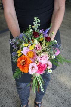 Wild flower brides bouquet - Rustic wedding flowers made by Amy's Flowers