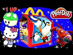 McDonalds Happy Meal Surprise Toys Play Doh Mario Egg Hello Kitty Big Hero 6 Blind Boxes DCTC - YouTube