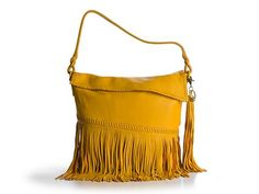 Carlos Falchi Fringe Hobo Leather Bags Handbags - DSW