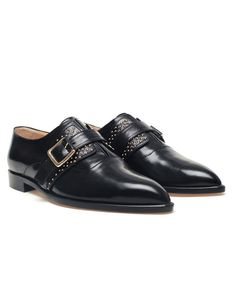 'Zelda' Studded Leather Brogues by BIONDA CASTANA at Browns Fashion