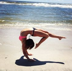 beaches, fit for life, inspiration, strength, beach poses, yoga poses, at the beach, handstands, fit motivation
