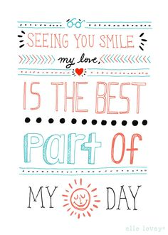 Seeing You Smile My Love By Ellolovely | Etsy