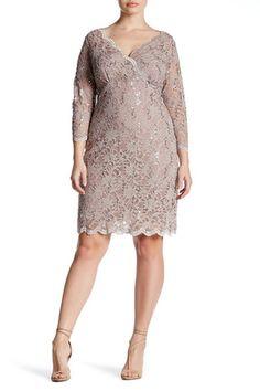 Sequin Lace Dress (Plus Size)