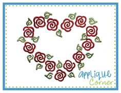 Heart of Flower Embroidery Design