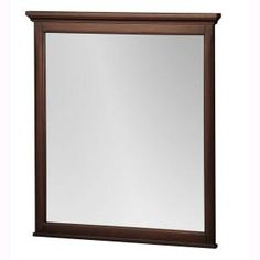 Foremost Ashburn 31.5 in. L x 28 in. W Wall Mirror in Mahogany-ASGM2831 at The Home Depot