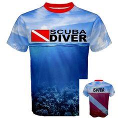 SCUBA DIVER Down Flag Deep Sea Diving Equipment Pro Sport  Print T-SHIRT SDF  | Clothing, Shoes & Accessories, Men's Clothing, T-Shirts | eBay!