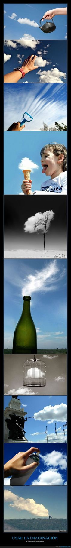 Clouds in the perfect places - Optical Illusions Photo Ciel, Creative Photography, Art Photography, Funny Photos, Cool Photos, Diy Foto, Forced Perspective, Perspective Photography, Montage Photo