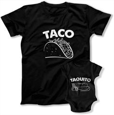 7d815cfc Taco and Taquito Matching Family TShirt Sets for Father and Son Daddy Child  Gifts TEP977978 Mens