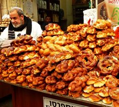 Breads at the Market. Israel | By Larissa & Michael with Pin-It-Button on their blog http://www.changesinlongitude.com/food-in-israel/