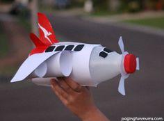 FREE PRINTABLE to make this cool Milk Bottle Airplane!