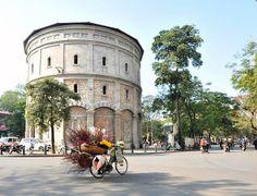 Spring follows bike in Hanoi Streets
