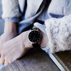 watch and outfit details