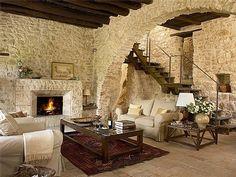 Stone hamlet in Umbria, Italy