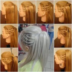 High Ponytail with Side Mesh Hairstyle!