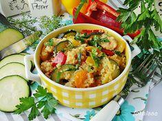 Ala piecze i gotuje: Kasza kuskus z warzywami i kurczakiem