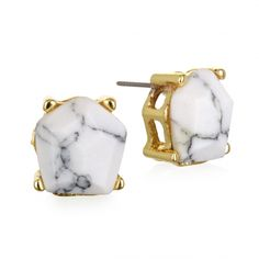 Aerial White Howlite Stud Earrings | Capwell + Co. | $24 | While they're simple enough to wear every day, these stand-out studs crafted with hoplite stones are anything but plain. Watch them stand out against printed tops and dresses