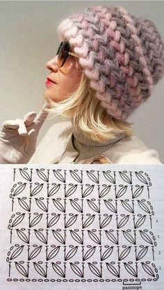 Bonnet Crochet, Crochet Cap, Crochet Beanie, Love Crochet, Crochet Motif, Crochet Stitches Patterns, Knitting Patterns, Crochet Crafts, Crochet Projects