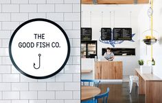 "The Good Fish Restaurant Branding by Swear Words "" Anything but a ""frozen flake and soggy chips"" sort of joint, The Good Fish Co. reinvents the concept of the fish and chip shop by focussing on..."