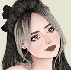 Beautiful Girl Drawing, Cute Girl Drawing, Beautiful Fairies, Cartoon Girl Images, Girl Cartoon, Cute Girl Pic, Cute Girls, Girly M Instagram, Girly Drawings