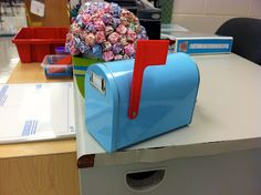 Mailbox for students to put letters to teacher in. Great for managing all the tattle telling.