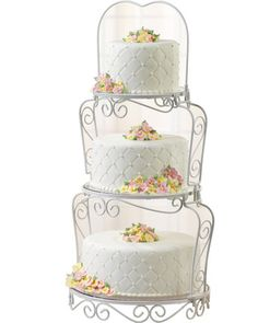 Wedding cake stands come in different designs to suit your individual tastes. Cupcake stands for weddings are increasingly popular and wilton cake stands are amongst the most stylish and affordable. 3 Tier Cake Stand, Cake And Cupcake Stand, Cupcake Display, Cupcake Party, Tiered Stand, Party Cakes, Wilton Cakes, 3 Tier Wedding Cakes, Wedding Cake Designs