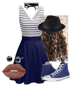 """""""Untitled #257"""" by krisxinfinity on Polyvore featuring Converse, Lime Crime, Uniqlo and Fallon"""
