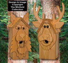 Cedar Deer & Wolf Birdhouse Plans from Winfield