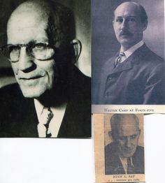 """""""Walter Camp and Hugh Ray are the only two men ever to have owned the copyright to the rules of football. Camp's was a copyright to the early rules and Rules Books, while Ray's ownership came three ways: from his copyright of the""""Football Rules Thru Play Situations"""" from his unique Rules Book format which is still universally used and his authorship of hundreds of playing rules."""""""