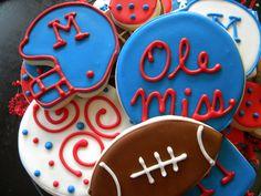 Ole Miss Cookies #football #college #tailgate