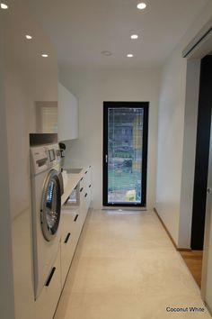 Small Laundry Rooms, Laundry In Bathroom, Small Rooms, Backyard Renovations, Kitchen Utilities, Toilet Room, Laundry Room Design, Home Reno, Interior Design Living Room