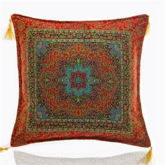 Saray Ornate Cushion Cover, Red