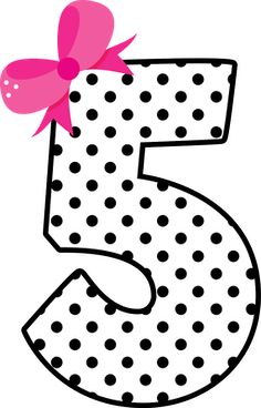 Number five ♥ Birthday Clipart, Birthday Wishes, Birthday Cards, Happy Birthday, Alphabet Templates, Cake Templates, Barbie Party, Doll Party, Diy And Crafts