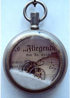 Love this pocket watch that has been recycled.