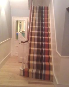 Striped Carpets On Stairs Striped Carpet Stairs, Stairway Carpet, Striped Carpets, Carpet Flooring, Stairways, My Dream Home, Sweet Home, Home And Garden, Lounge