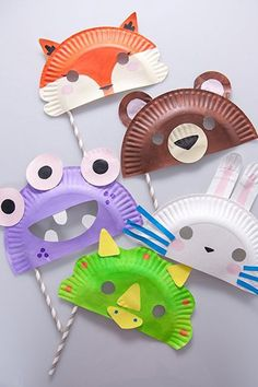 Paper Plate Masks Fun Crafts Kids Ideas Of Paper Plate Crafts for Of July Paper Plate Masks, Paper Plate Crafts, Paper Plates, Paper Plate Animals, Fun Crafts For Kids, Creative Crafts, Diy For Kids, Kids Table Wedding, Wedding With Kids