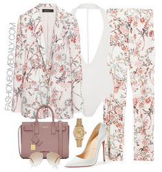 Spring 2016 Style Inspiration: 5 Fabulous Printed Suit Looks Suit Fashion, Daily Fashion, Fashion News, Fashion Outfits, Womens Fashion, Look Girl, Mode Chic, Spring Summer Fashion, Spring 2016