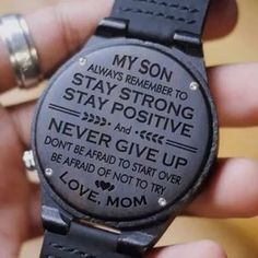 My Son Stay Strong Stay Positive Love Mom Engraved Wooden Wood Watch Anniversary Birthday Graduate Gift Customized Wedding Birthday Quotes Kids, Birthday Wishes For Son, Daughter Birthday, 18th Birthday Gifts For Boys, Teenage Boy Birthday, Birthday Posters, 21 Birthday, Birthday Images, Birthday Greetings
